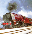 Oil Painting of the Stanier Duchess Train